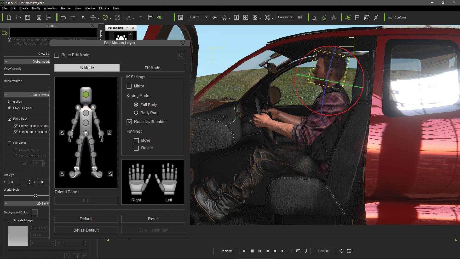 Make vehicle animations with iClone 7: Record the props interaction