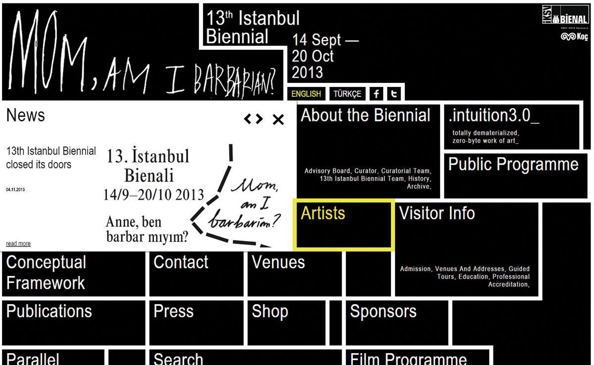 The 13th Istanbul Biennial site
