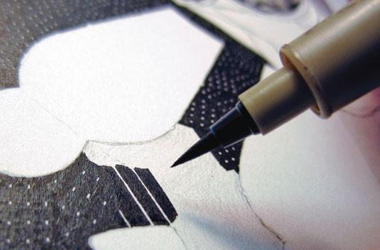 Get started with ink drawing - brushes