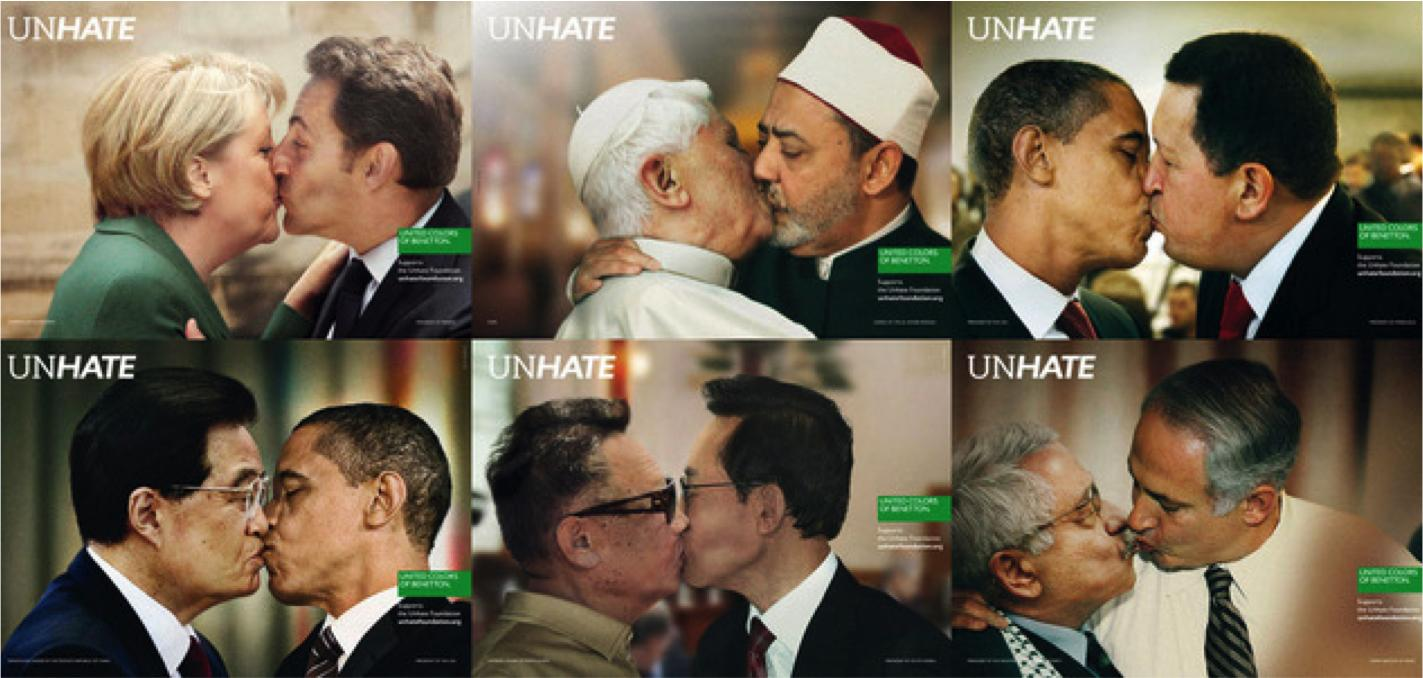 United Colors of Benetton UnHate campaign