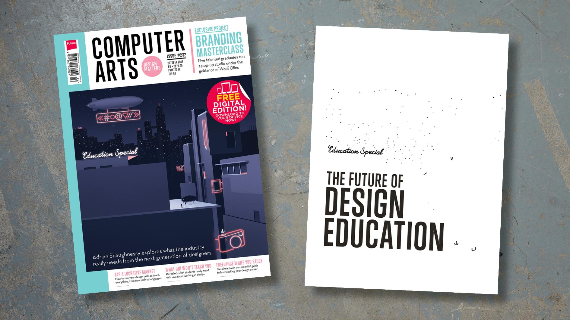 two covers of Computer Arts magazine