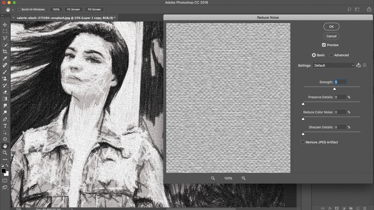 Photoshop with woman
