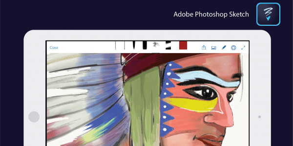 adobe photoshop sketch screenshot on iPad