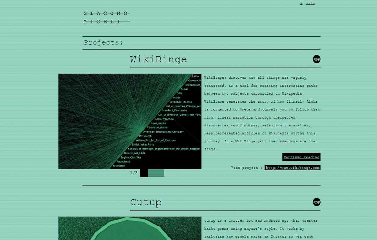 Giacomo Miceli's website