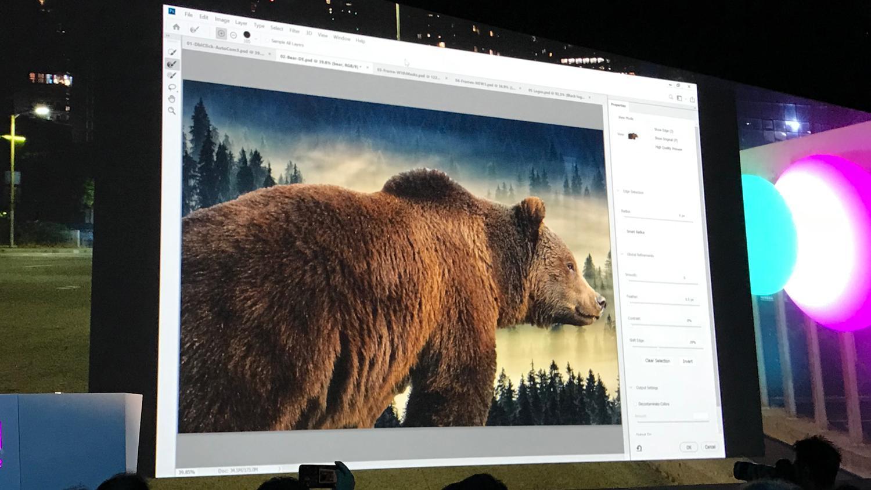 Adobe Sensei selection tool in Photoshop