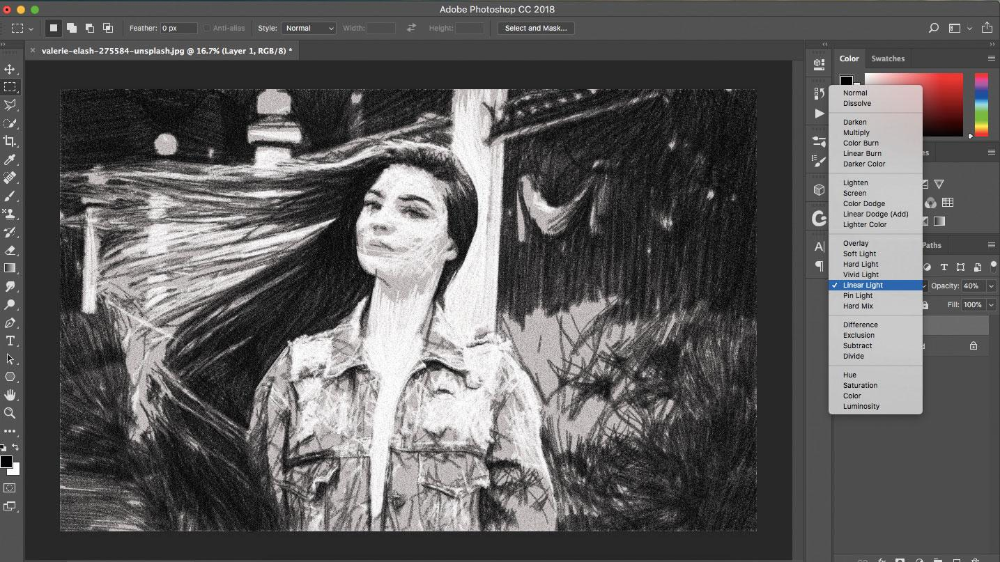 Photoshop with image of woman in it
