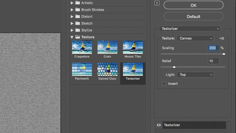 Photoshop canvas textures