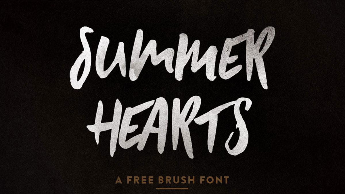 Free brush fonts: Summer Hears