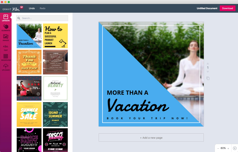 Klex - free graphic design software