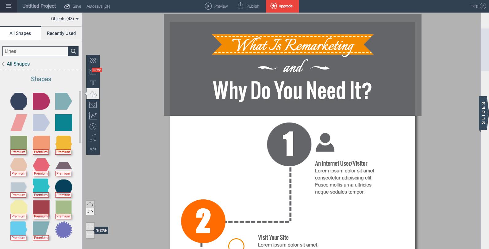 Infographics tools: Visme