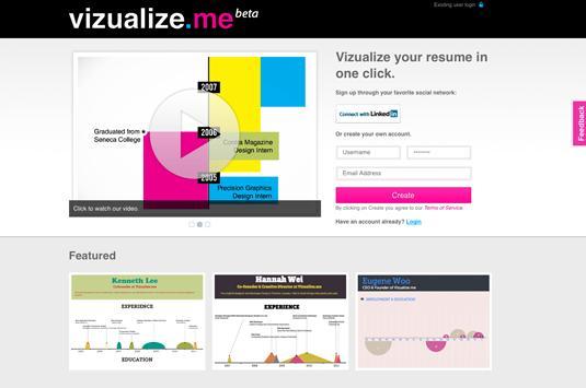 Vizualize.me - free graphic design software