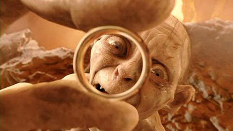 golum and the ring from The Lord of the Rings