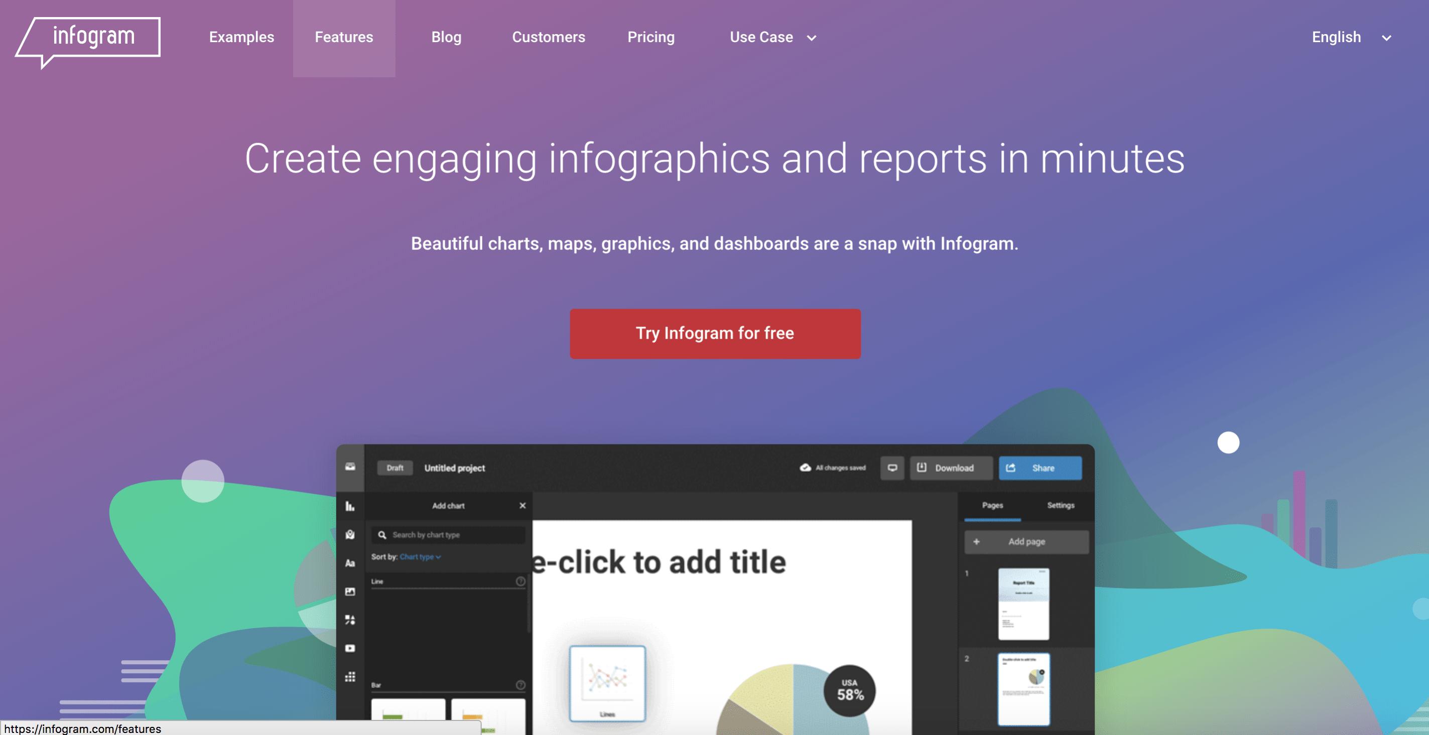 Infogram - free graphic design software