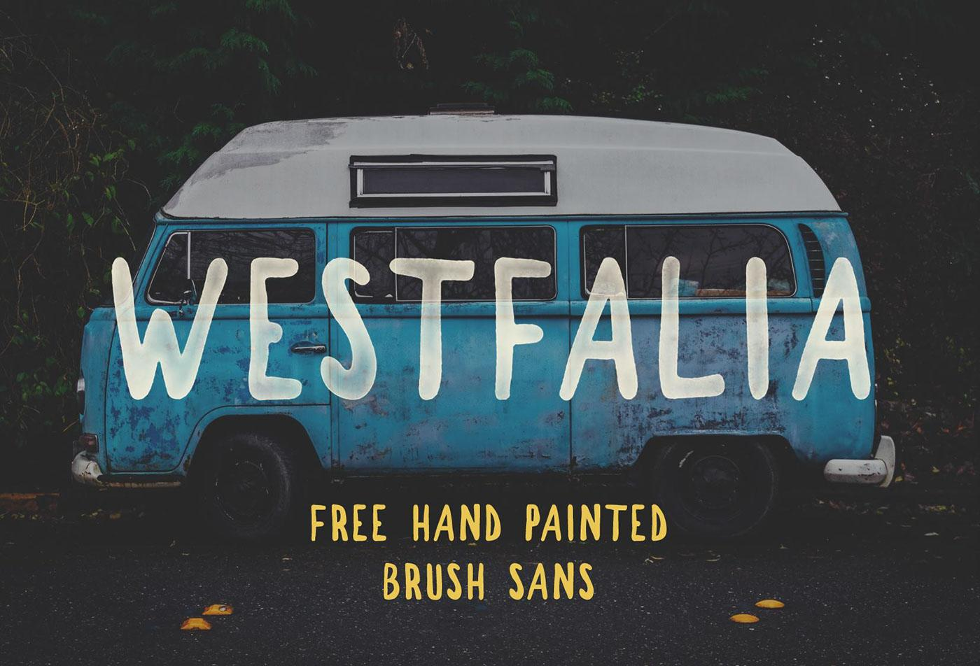Westfalia free brush font