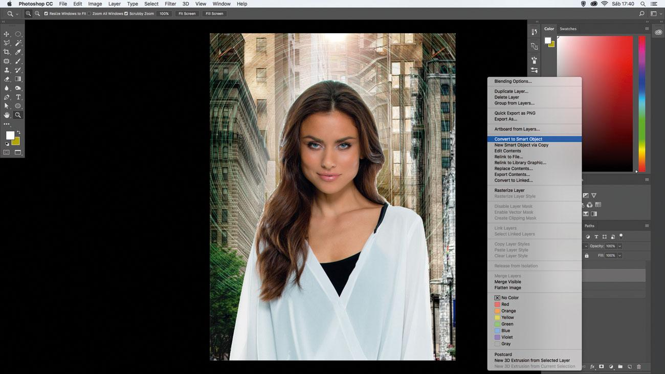 10 amazing things you can do with layers: Convert to Smart Object