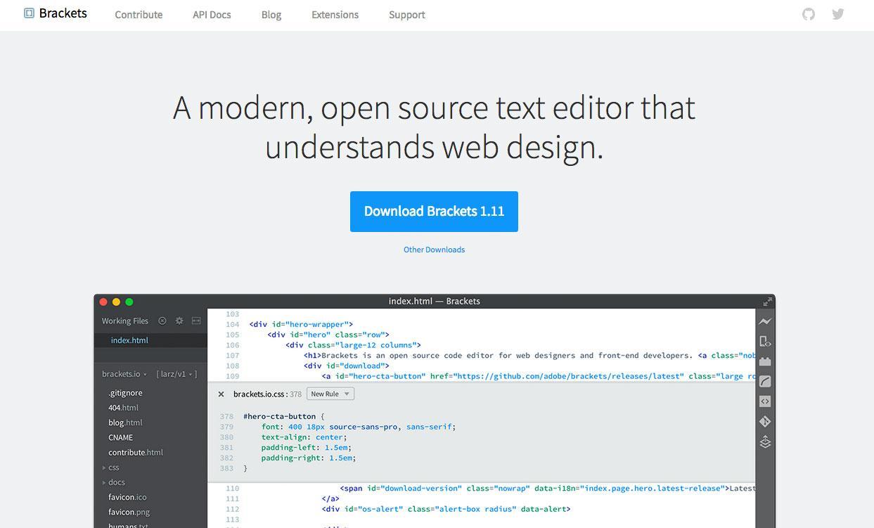 brackets open source project