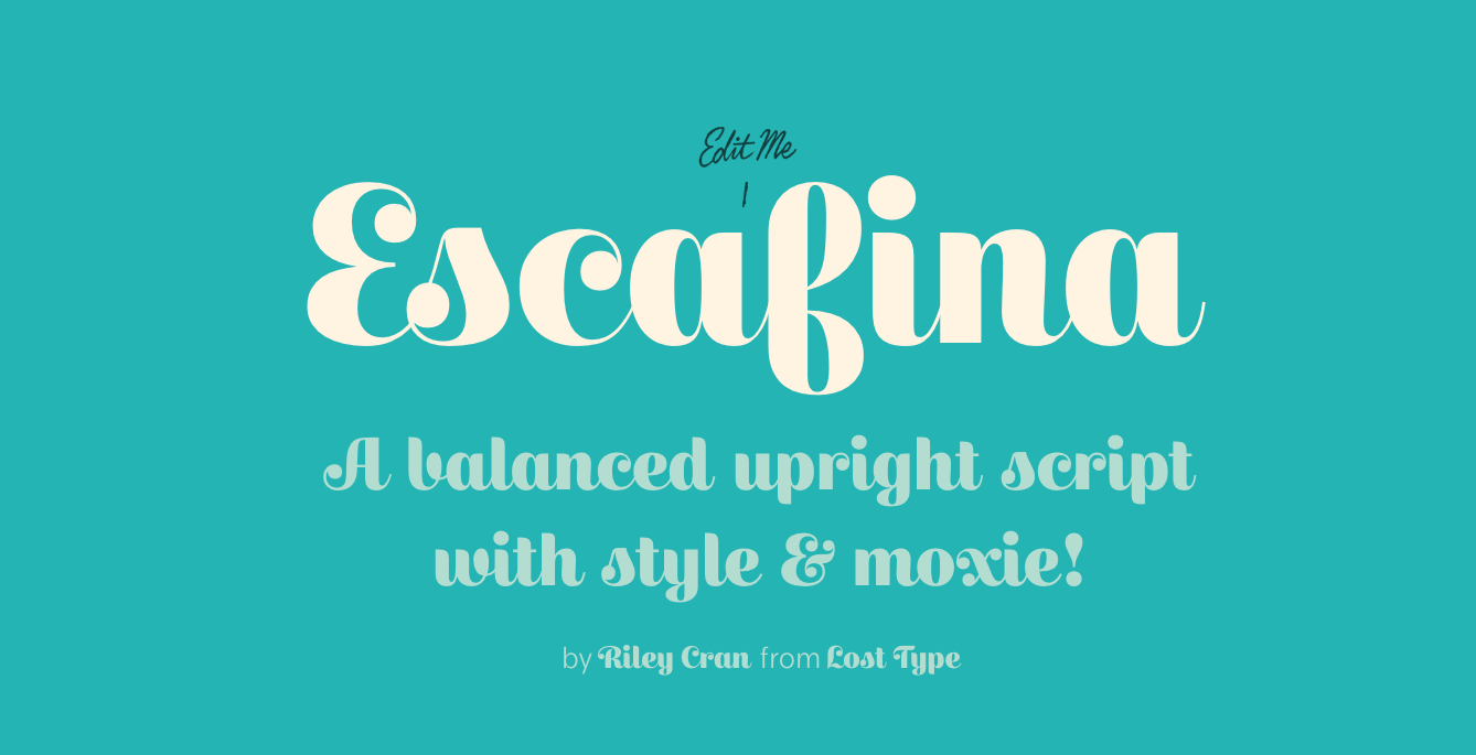 This fun font was inspired by mid-century advertising