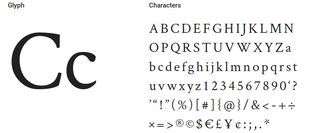Best free fonts: Crimson text