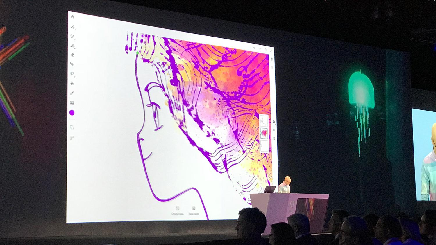 Kyle Webster takes the stage at Adobe MAX to showcase Adobe