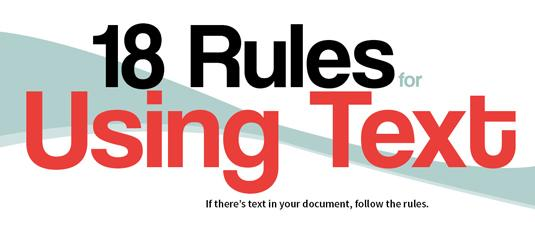 The best infographics: rules for text
