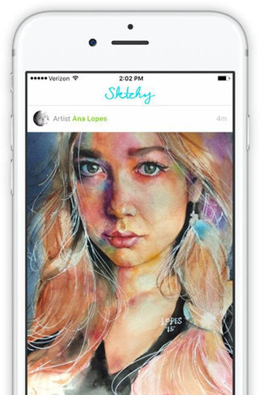 Best photo app: Sktchy