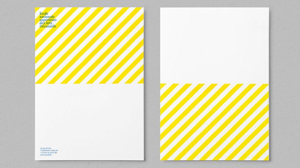 Letterhead design for École nationale supérieure des Arts Décoratifs