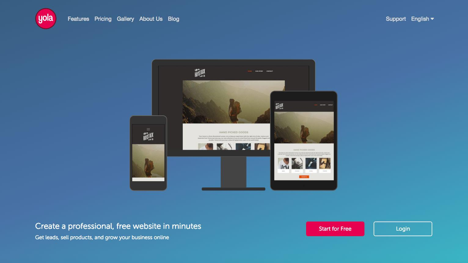 Best blogging platforms: Yola