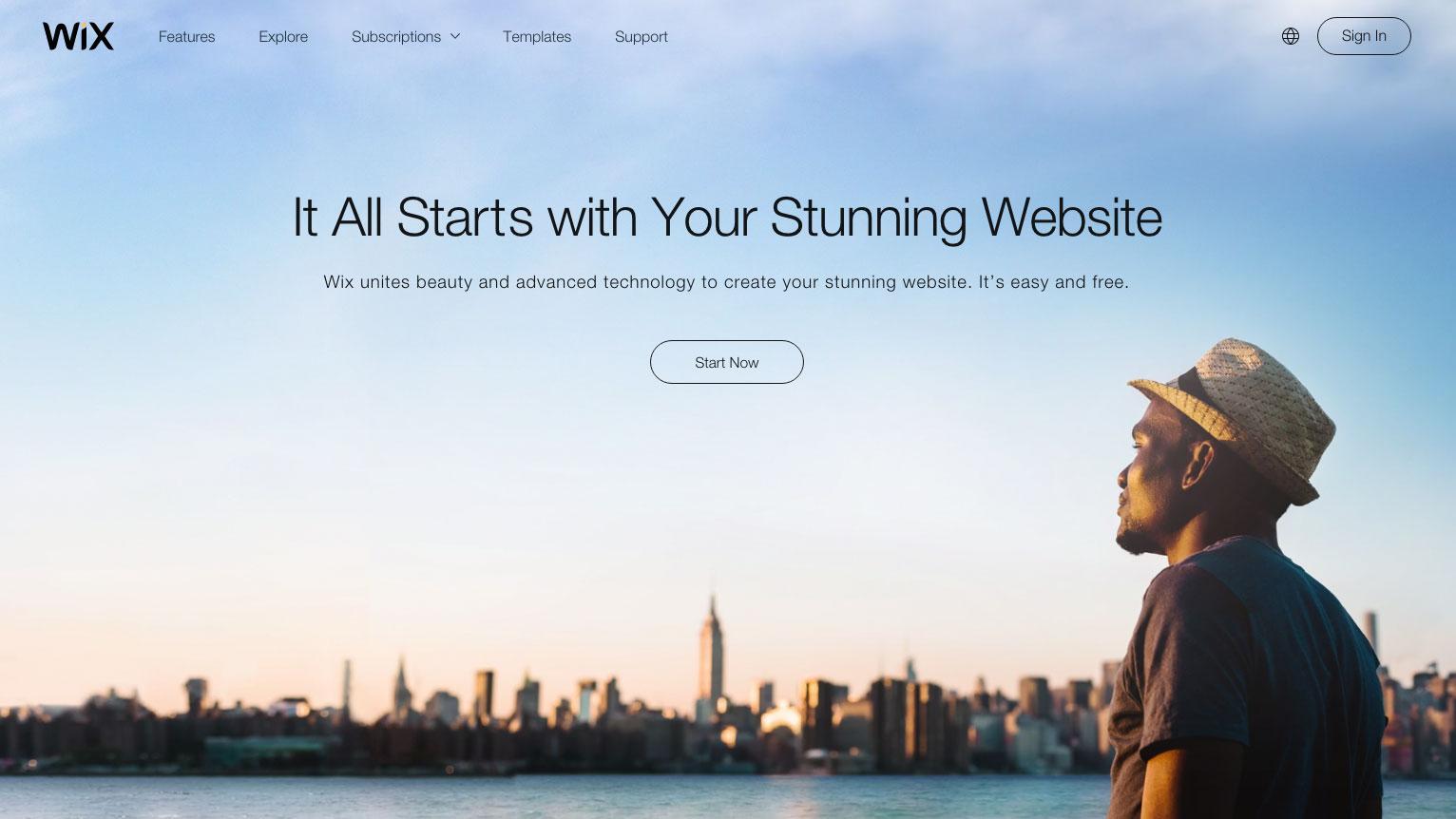 Best blogging platforms: Wix