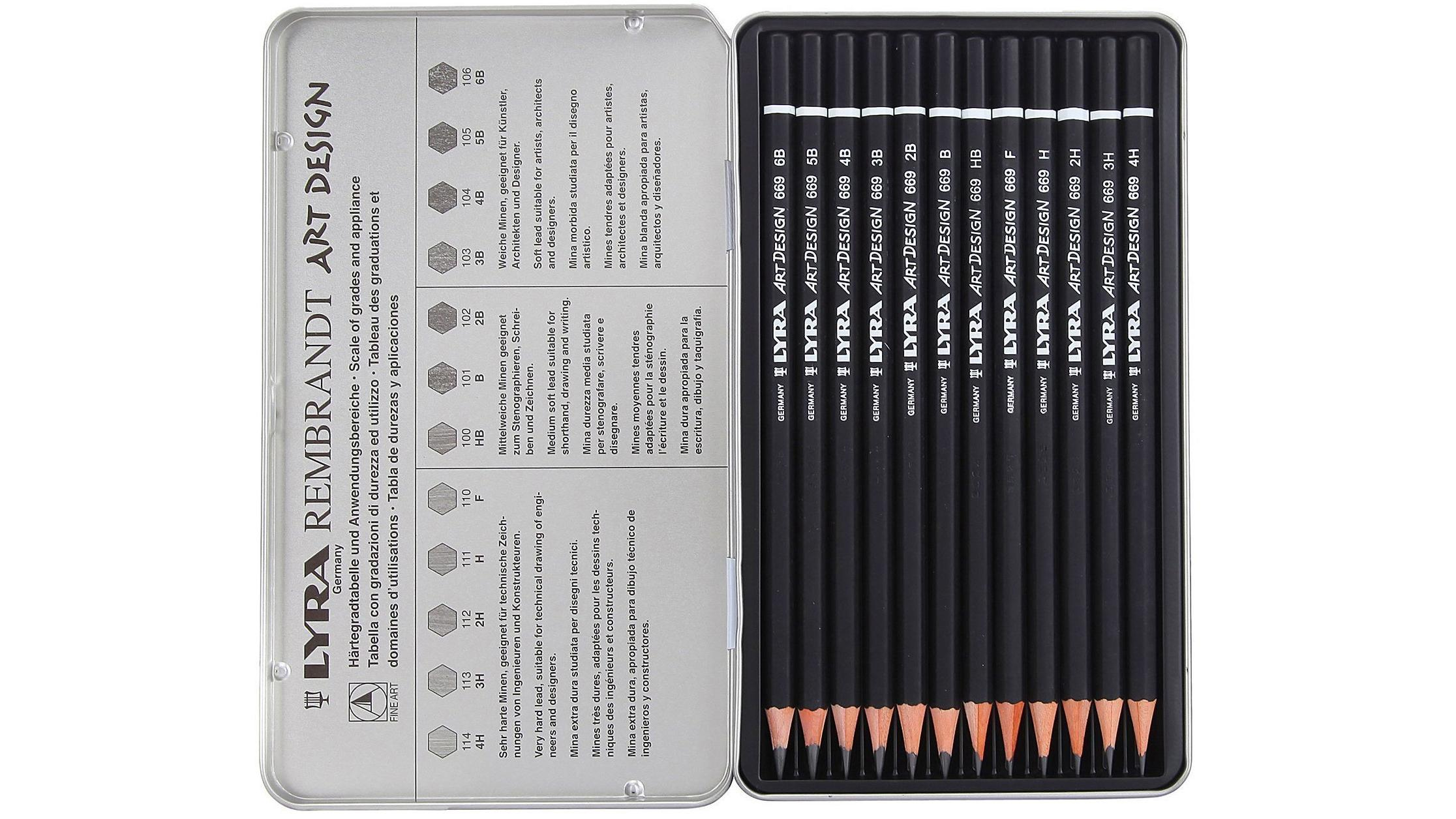 Lyra Rembrandt Art Design Graphite Pencil Set tin