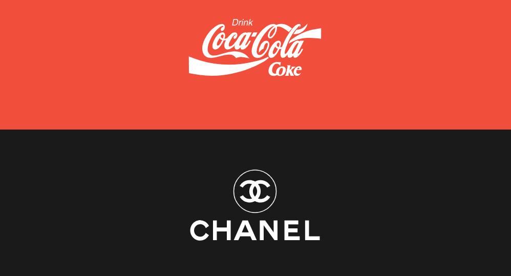 Coke and Chanel logos