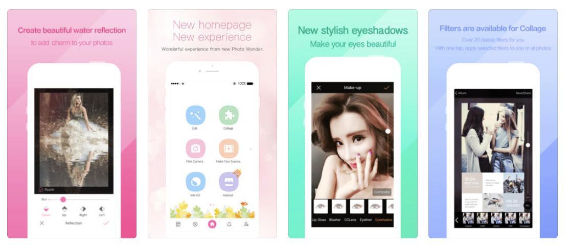 Photo Wonder app screenshots