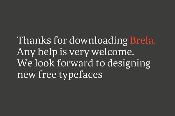 Best free fonts: Brela