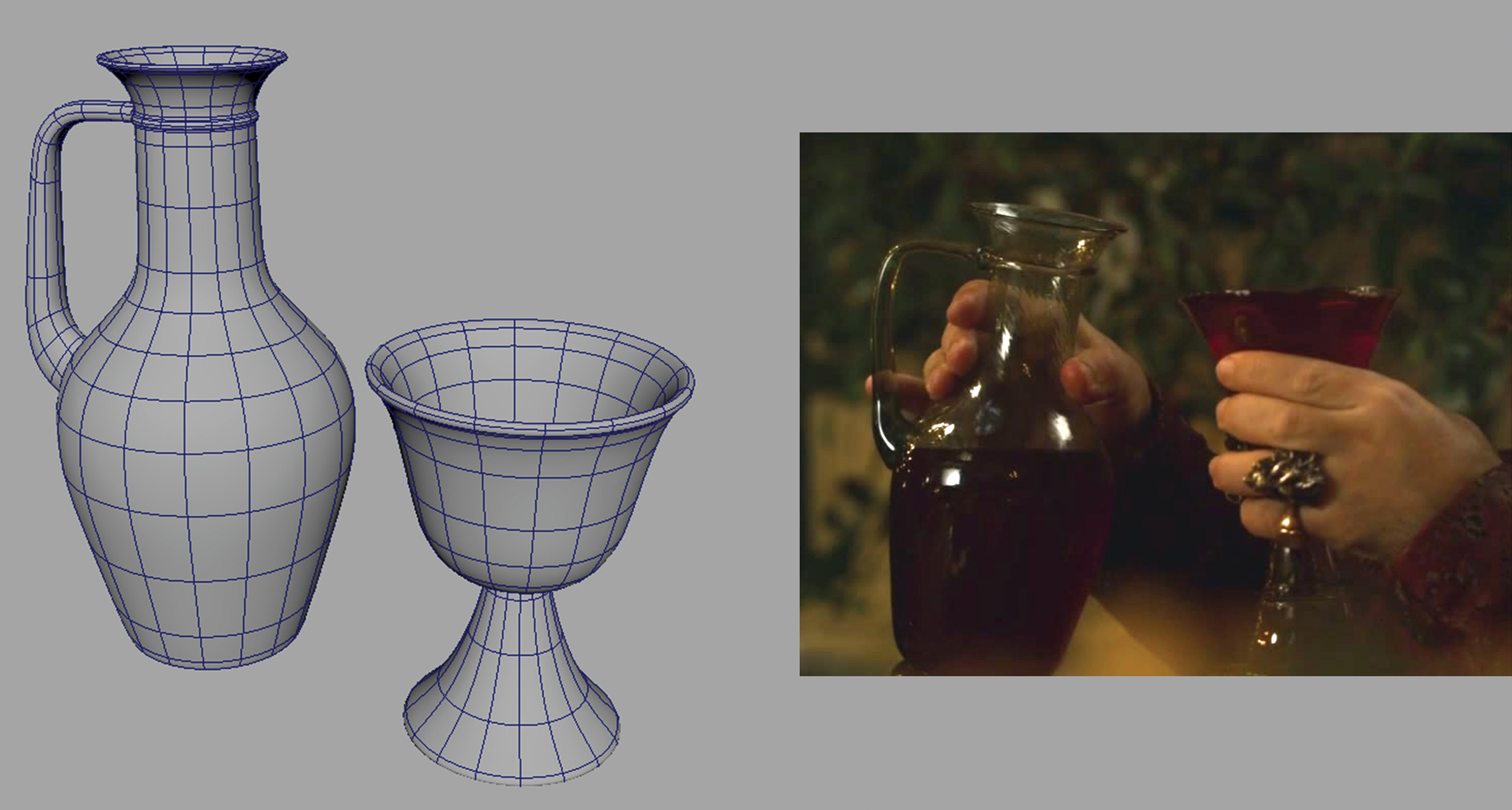 jug and cup plus reference