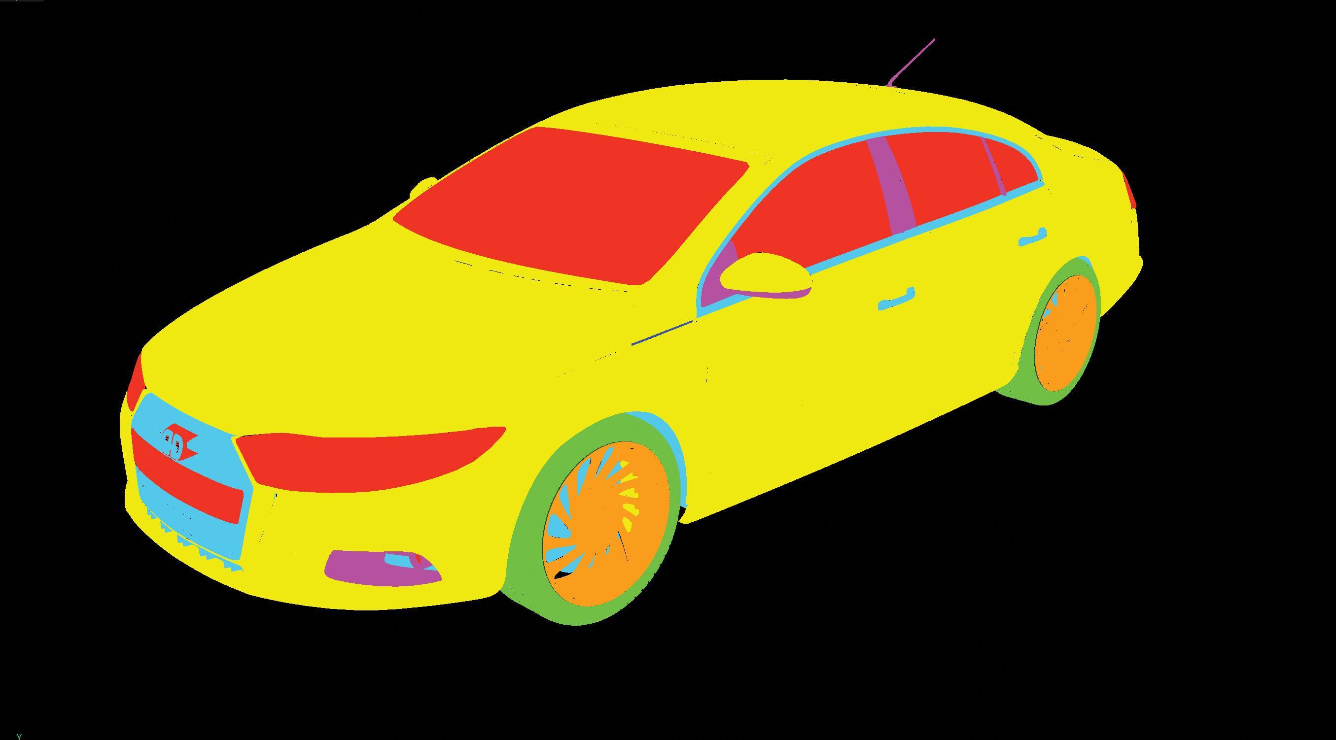 A 3D model of a car