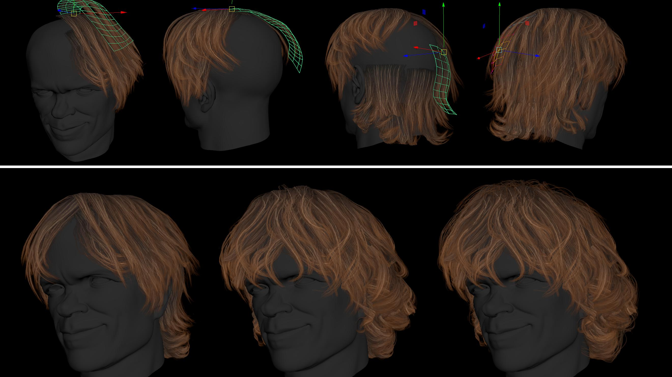 hair placement in ZBrush