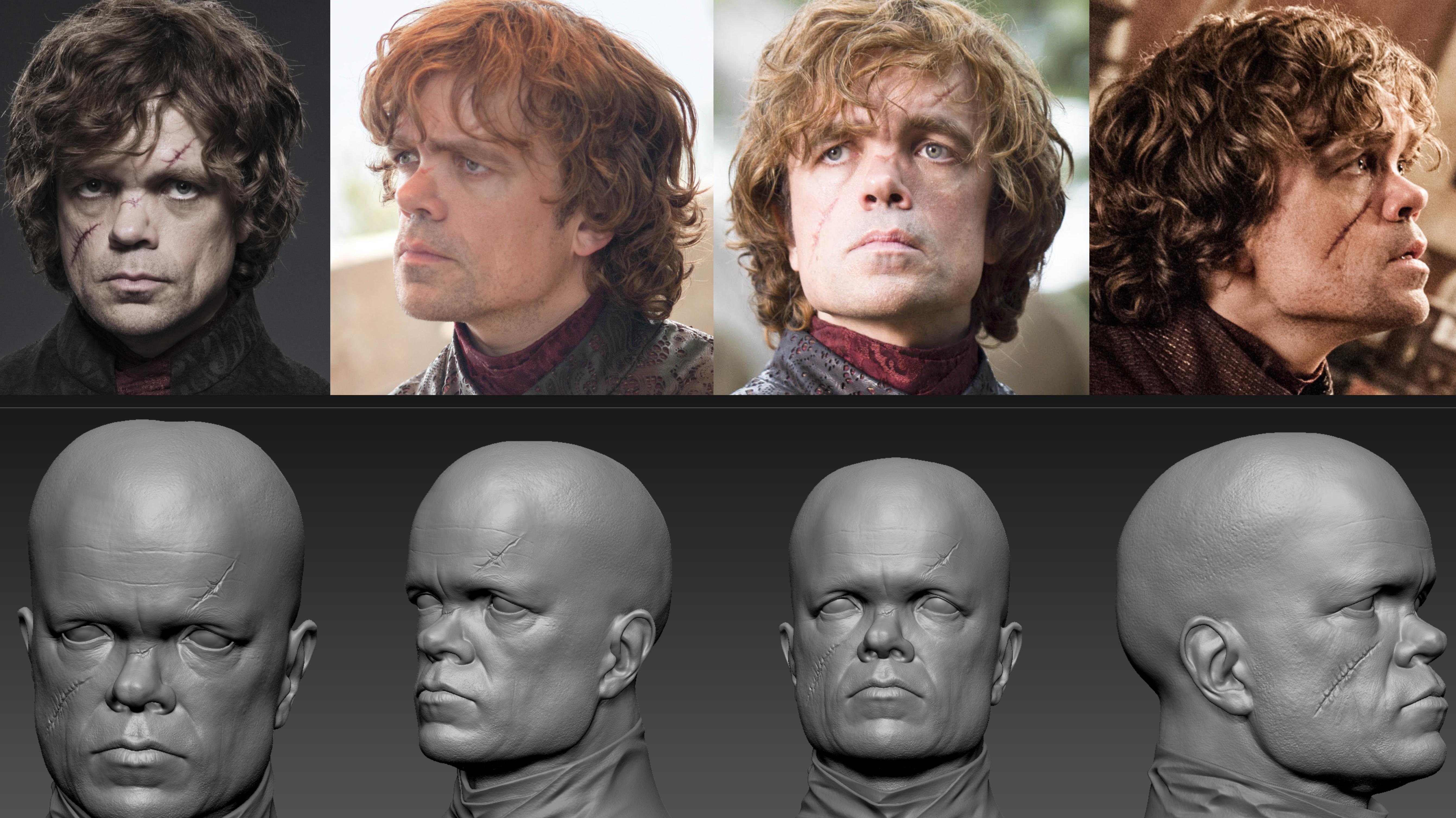 Game of Thrones head sculpts and reference