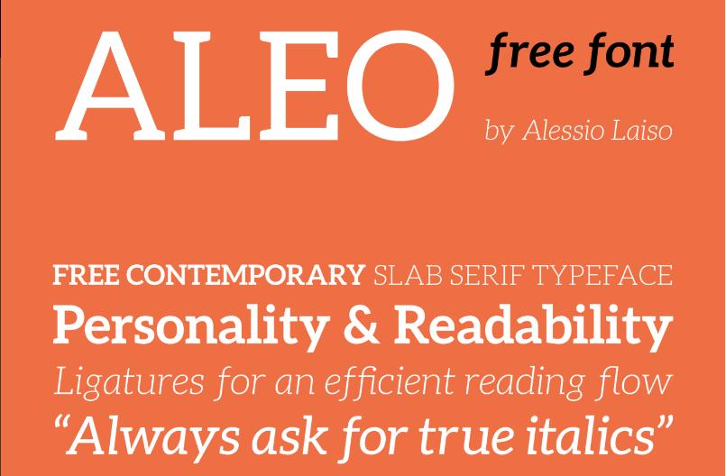 Best free fonts: Aleo