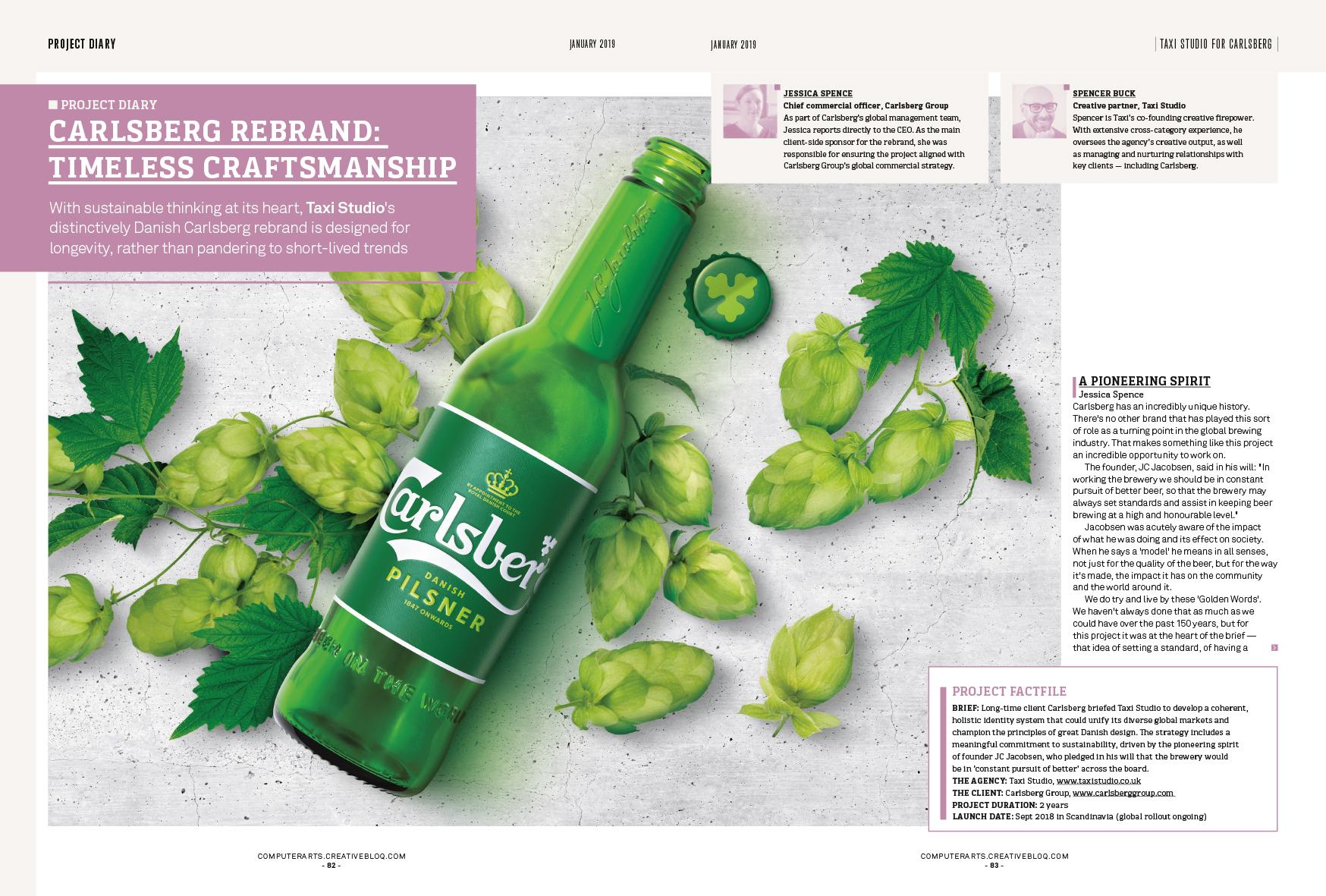 How Taxi Studio rebranded Carlsberg with a distinctively Danish design