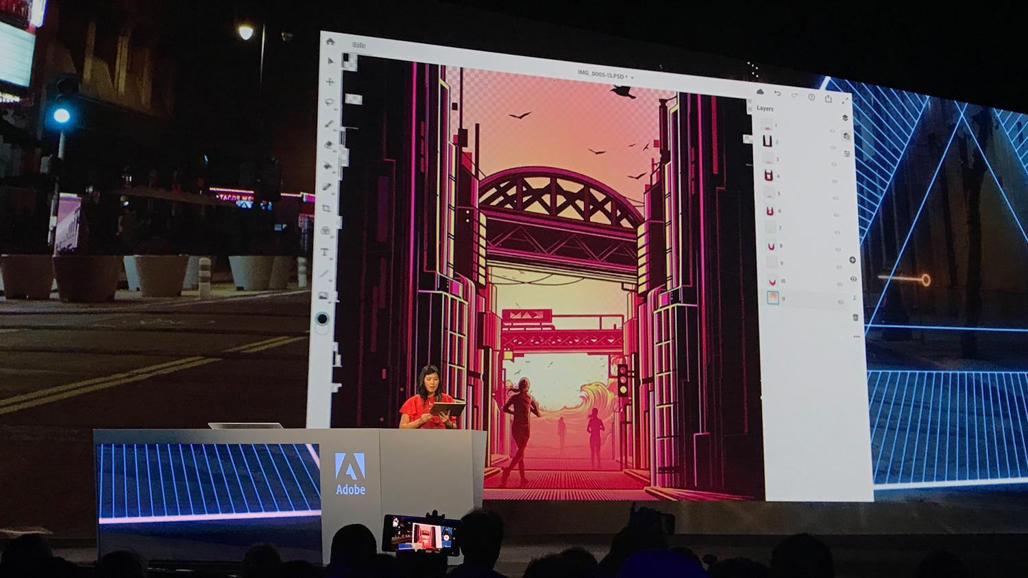 Adobe senior product manager Zorana Gee presents a jaw-dropping Project Aero demonstration at Adobe MAX