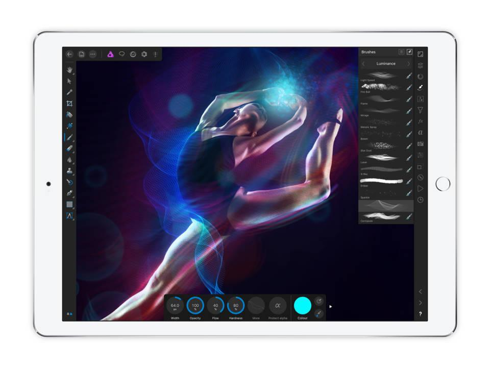 Photo of dancer being edited on iPad