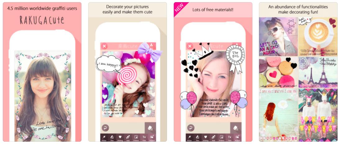 Rakuga Cute app screenshots
