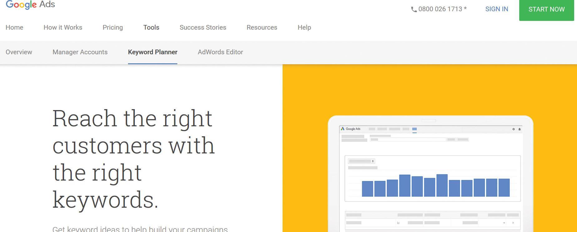 Google Keyword Tool screenshot