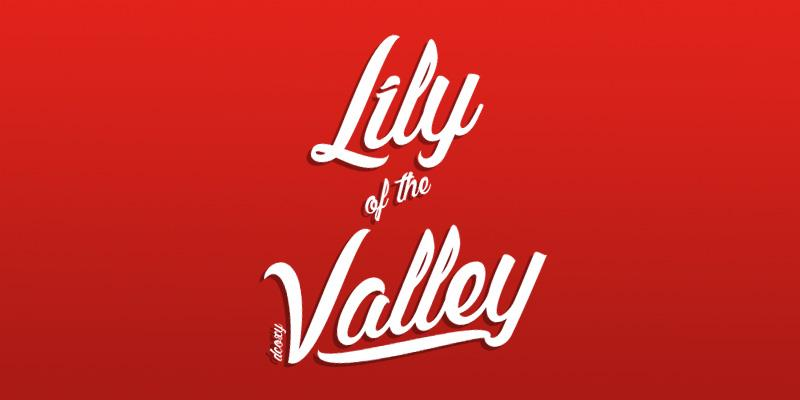 Lily of the Valley cursive font