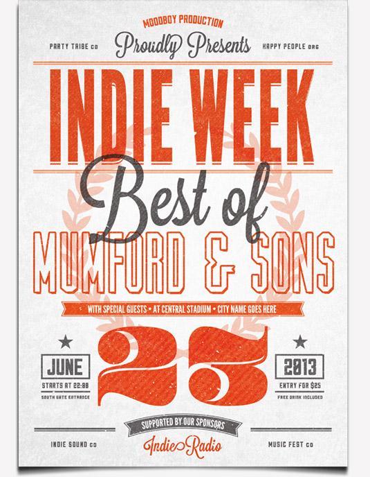 flyer templates: indie vintage