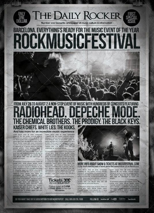 flyer templates: newspaper