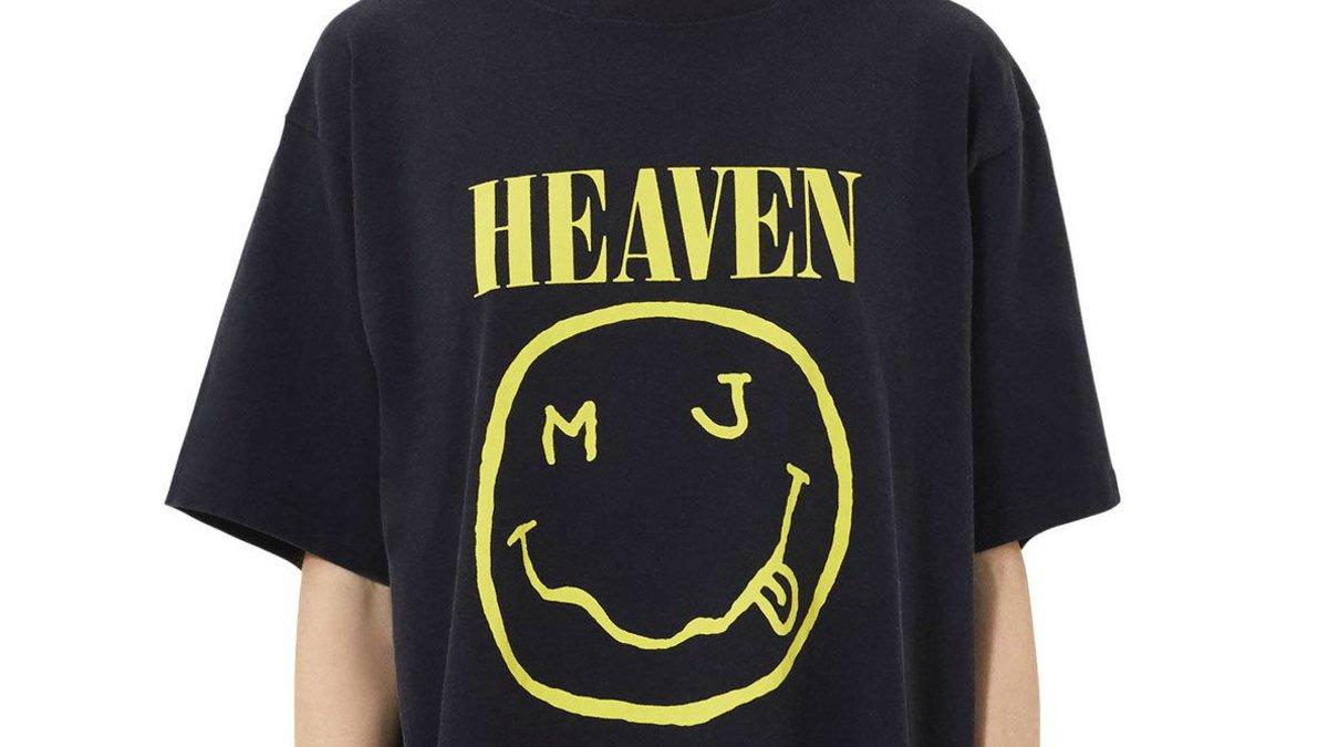 Marc Jacobs smiley face logo t shirt