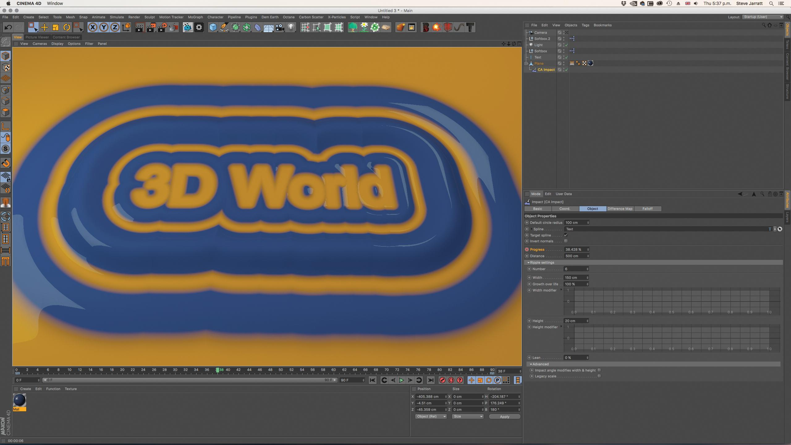 Cinema 4D plugin: Difference Map