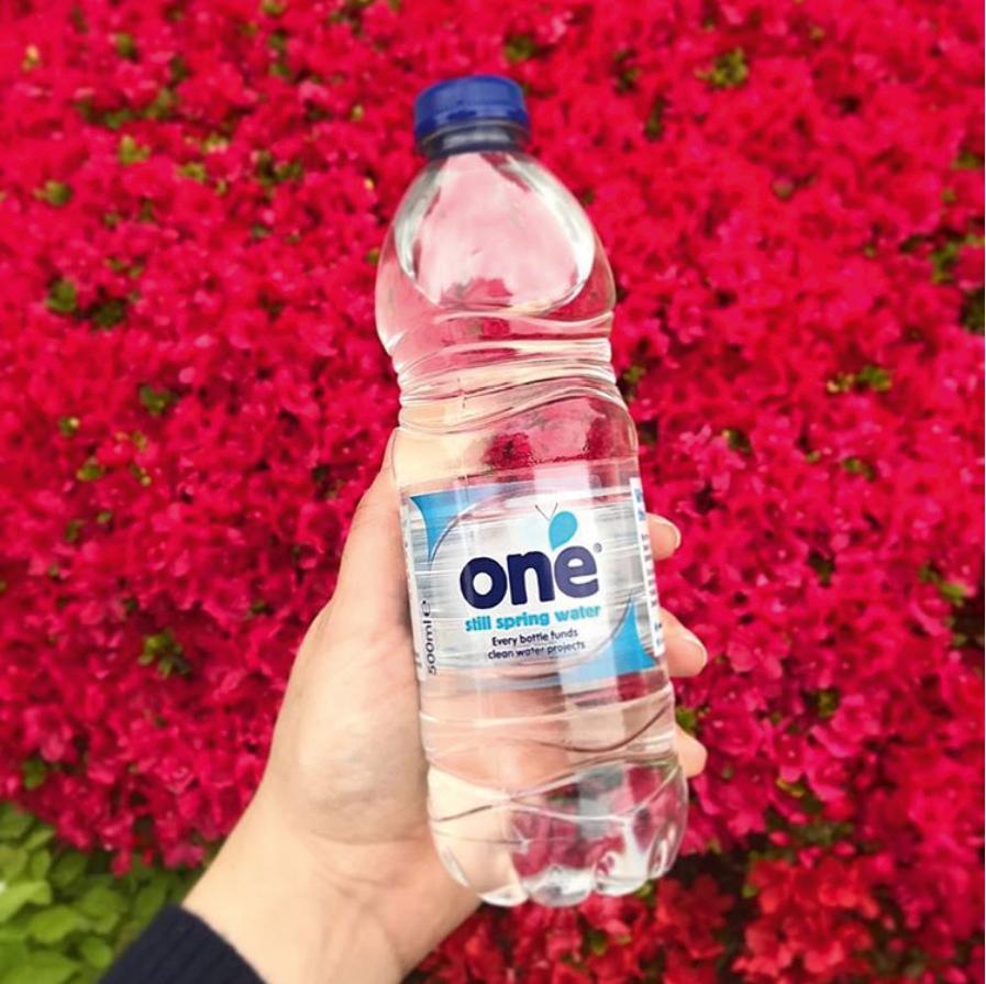 A One Drinks water bottle
