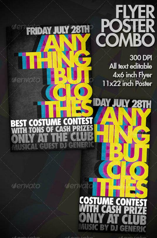 flyer templates: bold typography
