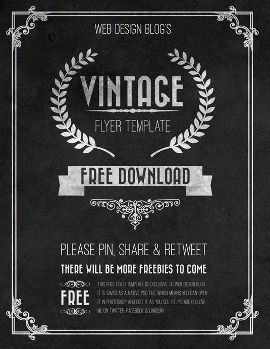 Flyer templates: Vintage